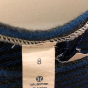lululemon athletica Tops - Lululemon blue and gray stripe LS top, sz 8, 68412